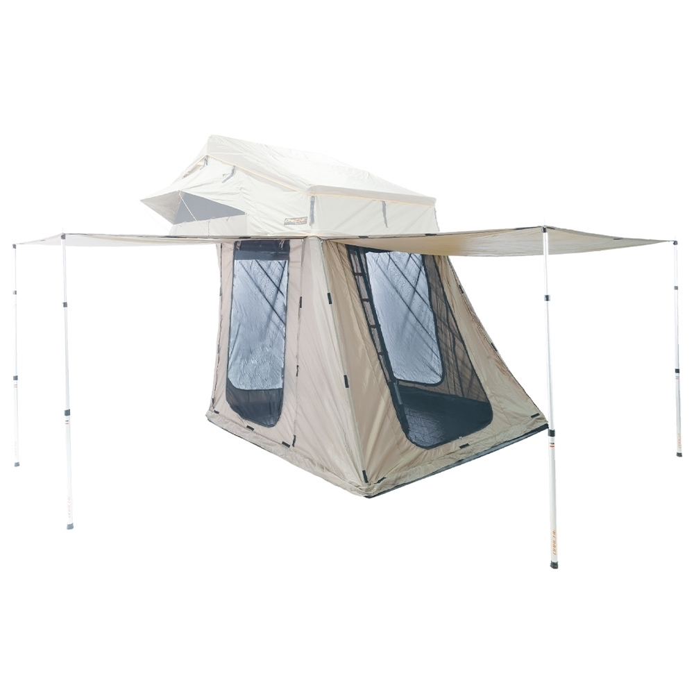 Darche Hi-View 1800 Annex - Features 3 entries and an additional rear opening for vehicle access