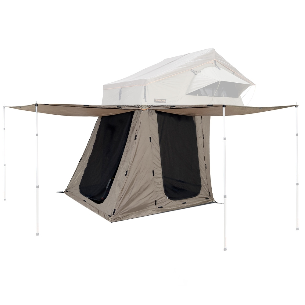 Darche Hi View/Panorama 1600 Annex - Zippered privacy door can be converted to an awning with the Telescopic Alloy Poles (sold separately)