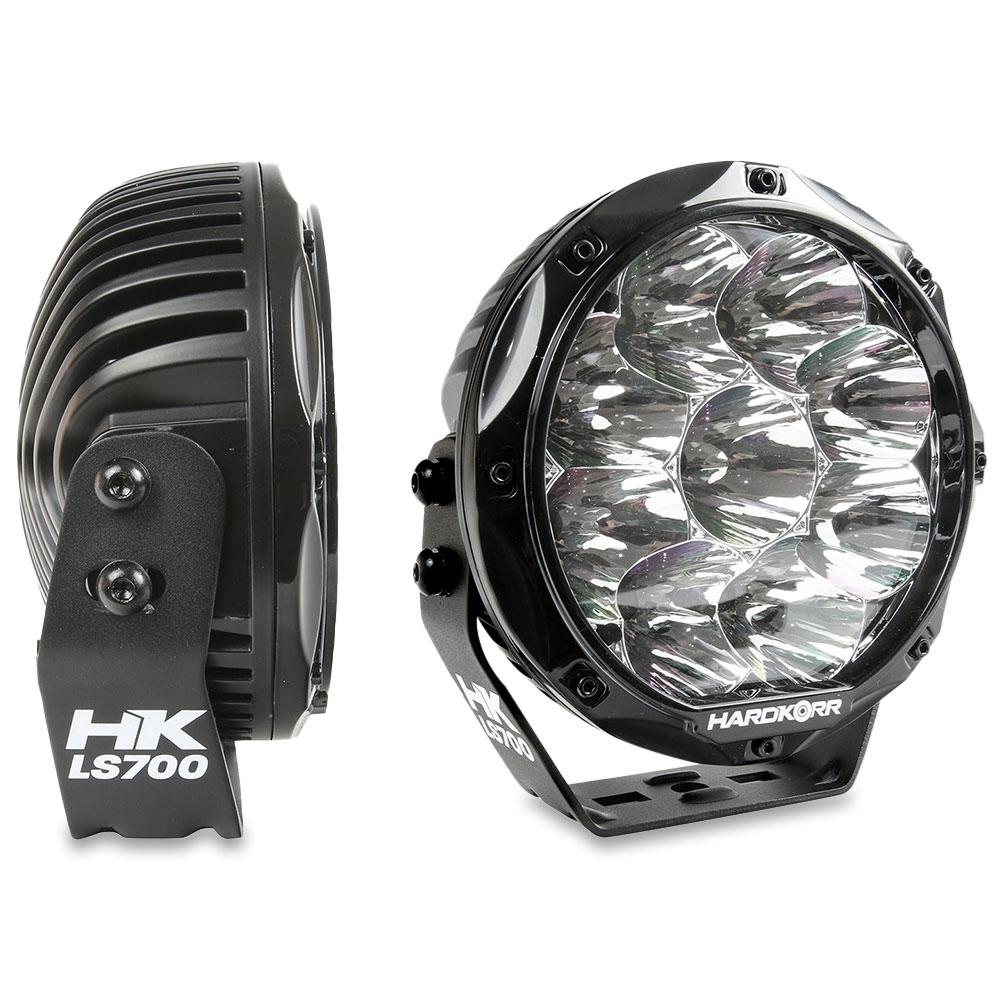 "Hard Korr Lifestyle 7"" LED Driving Lights - Polycarbonate lens with UV-resistant coating"