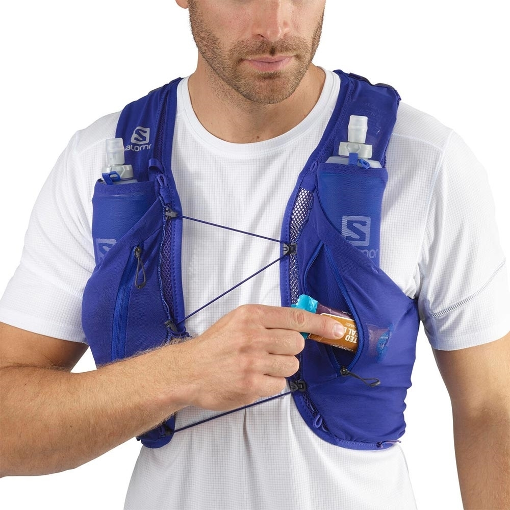 Salomon Advanced Skin 12 Set Hydration Pack - Stretch compartment with side zip opening