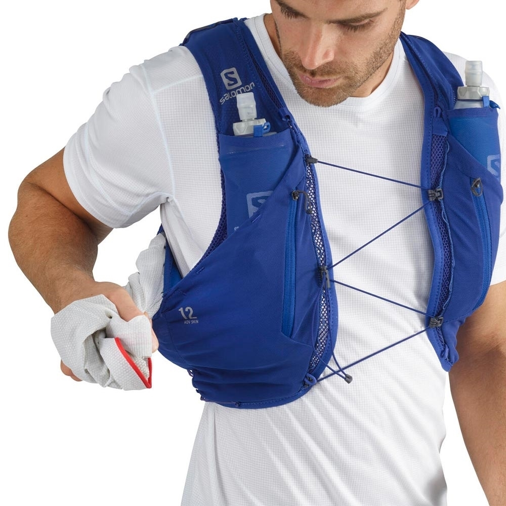 Salomon Advanced Skin 12 Set Hydration Pack - Wide pocket in the back that can be accessed from both sides
