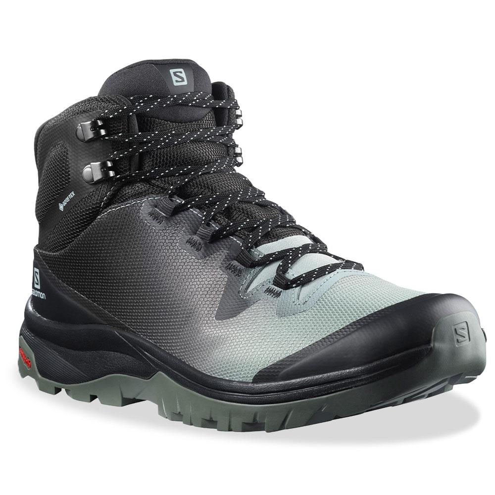 Salomon Vaya Mid GTX Wmn's Boot Aqua Gray Phantom Castor Gray