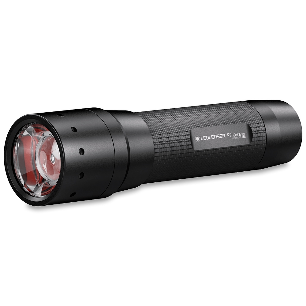 Ledlenser P7 Core Flashlight - Single handed operation that uses four AAA alkaline batteries