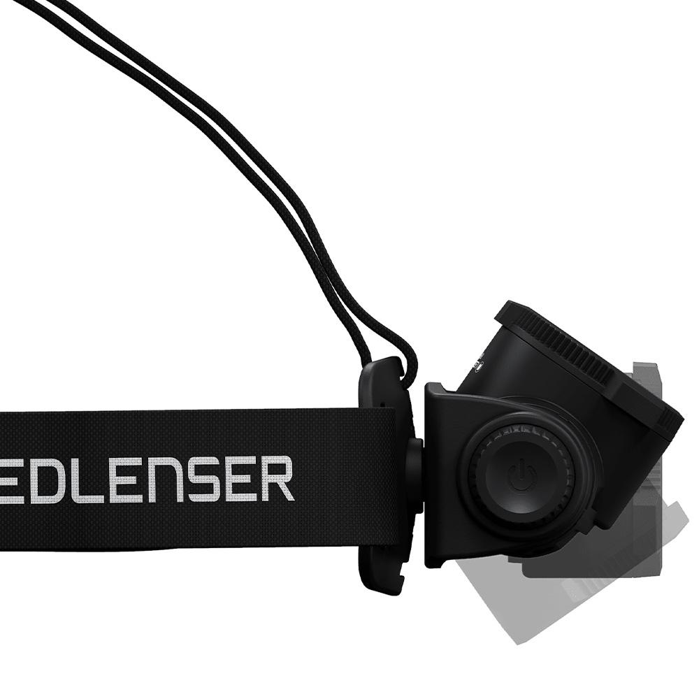 Ledlenser H7R Core Rechargeable Headlamp - 130-degree lamp head rotation