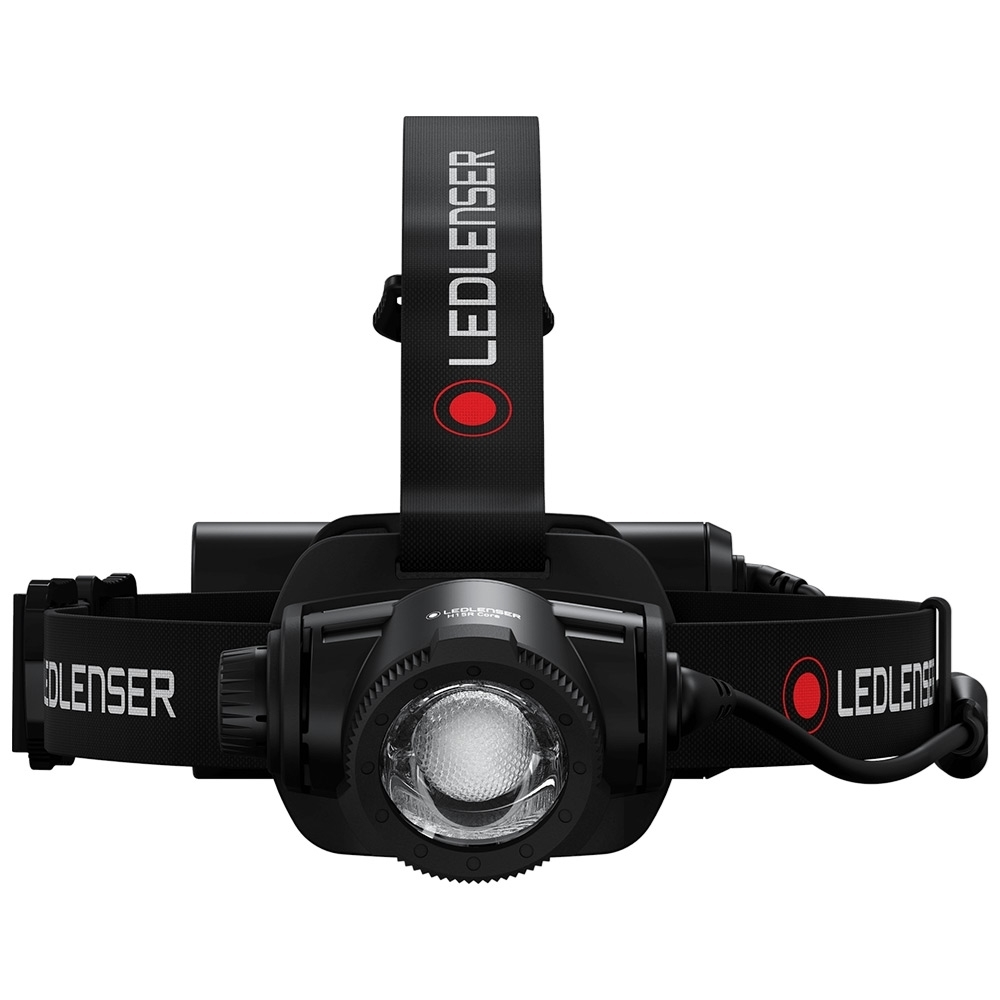 Ledlenser H15R Core Rechargeable Headlamp - Optional top of head strap for a more secure fit