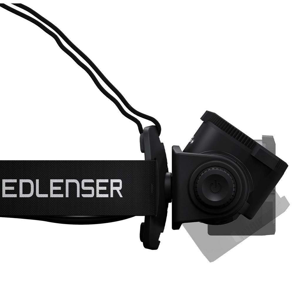 Ledlenser H15R Core Rechargeable Headlamp - 120-degree lamp head rotation