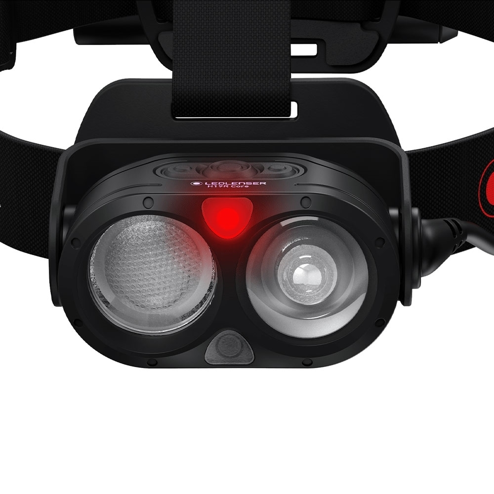 Ledlenser H19R Core Rechargeable Headlamp - Red Light - to preserve night vision