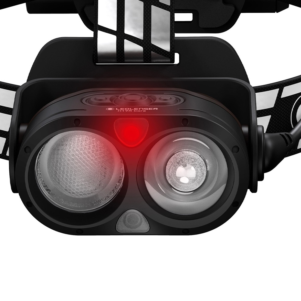 Ledlenser H19R Signature Rechargeable Headlamp - Red Light - to preserve night vision