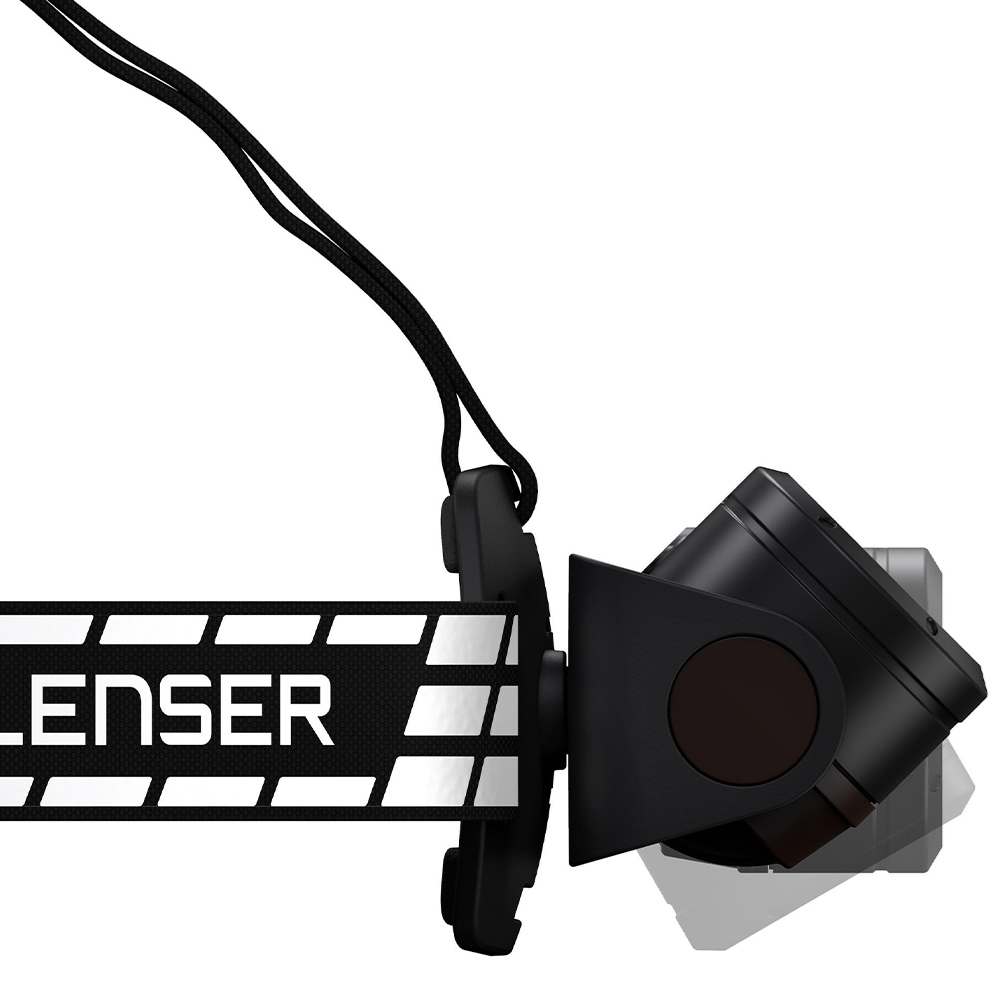 Ledlenser H19R Signature Rechargeable Headlamp - 95-degree lamp head rotation