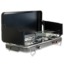 Zempire 2 Burner Deluxe Wide Camp Stove - Stainless steel drip tray to keep everything clean and tidy
