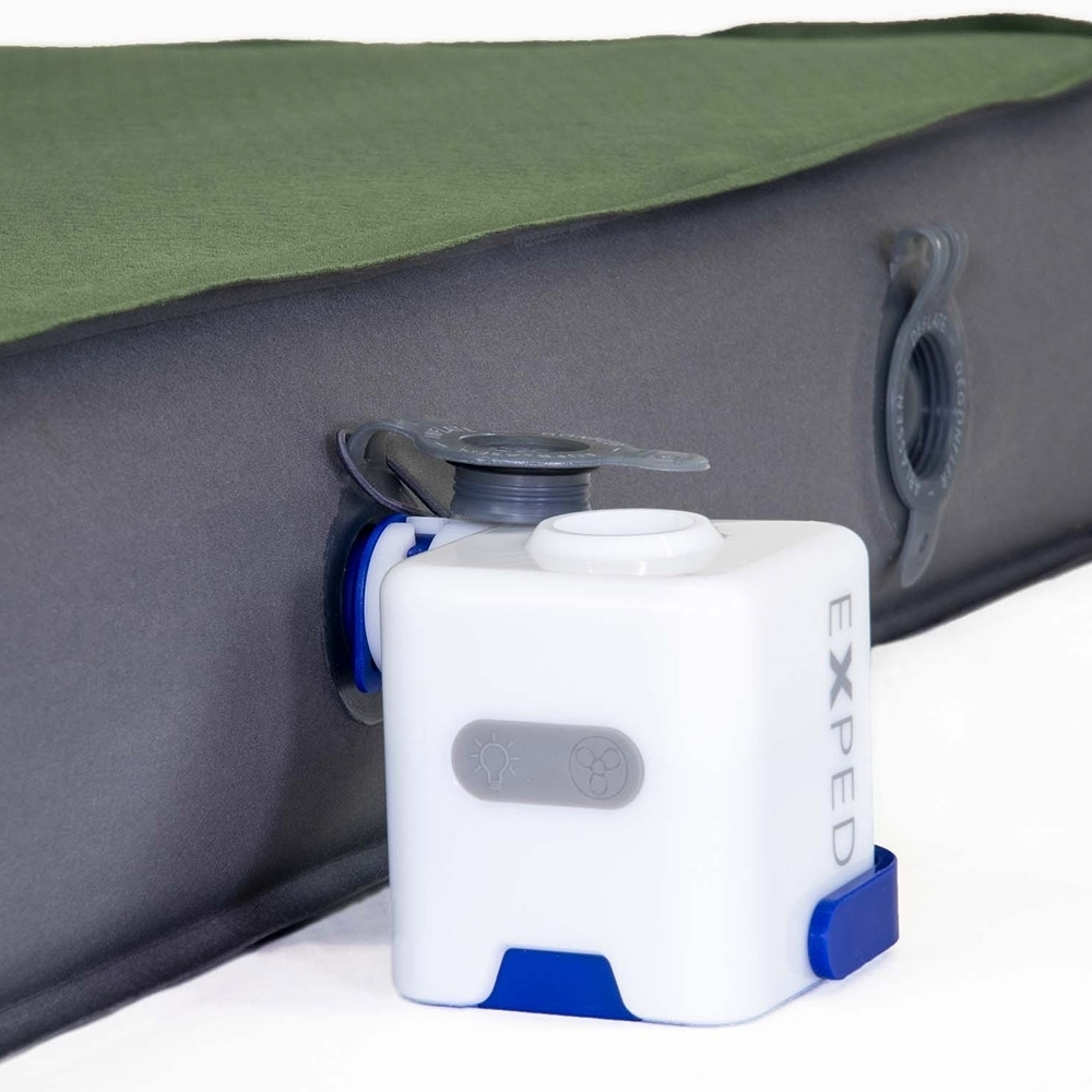 Exped Widget Inflation Pump, Lamp & Powerbank - Designed to be used with Exped Sleeping Mats with Flat Valve