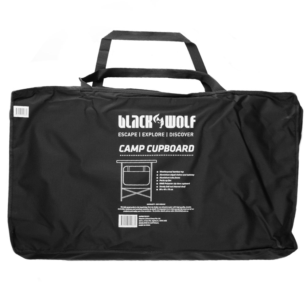 Black Wolf Camp Cupboard - Included carry bag