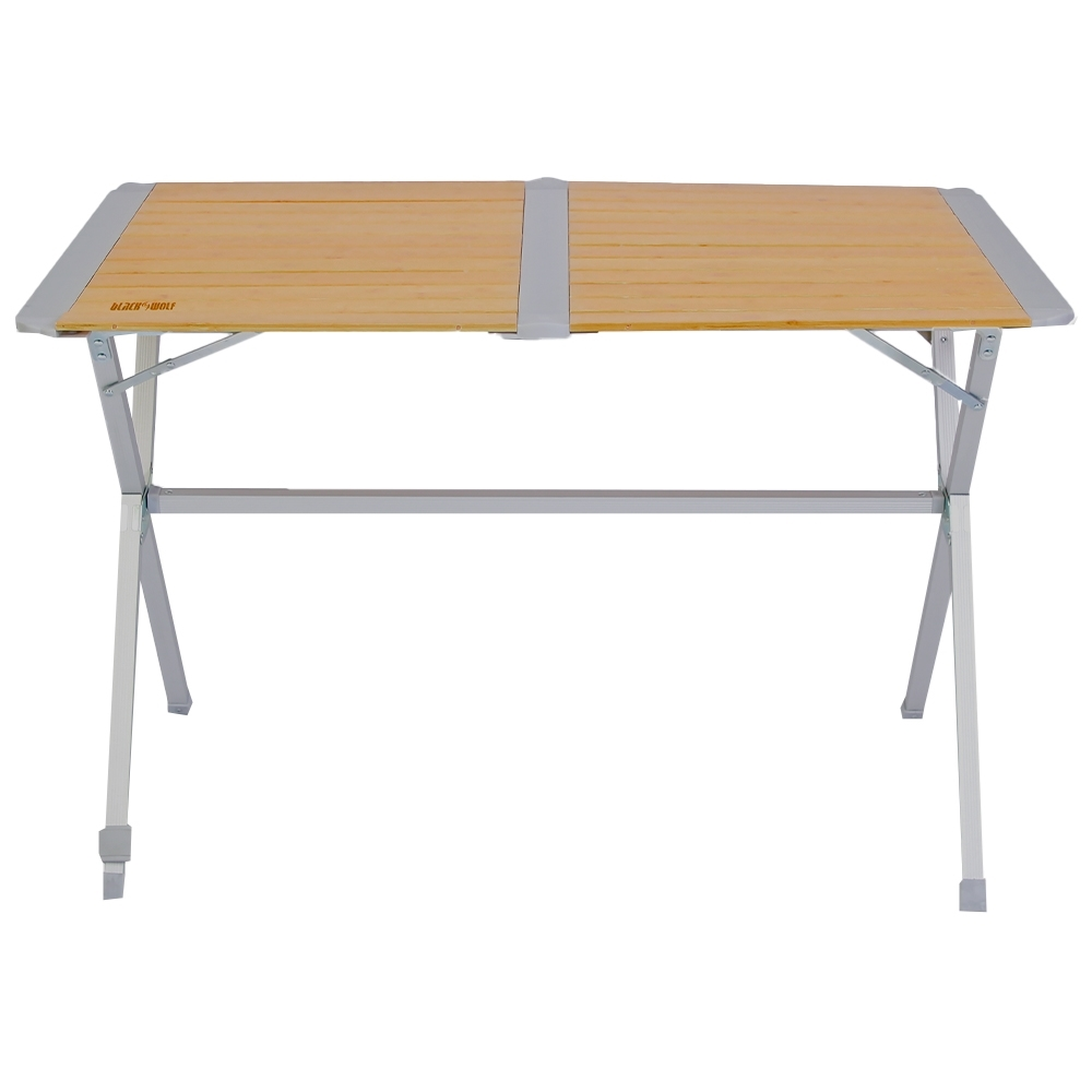 Black Wolf Slatted Camping Table - Quick fold down and set up