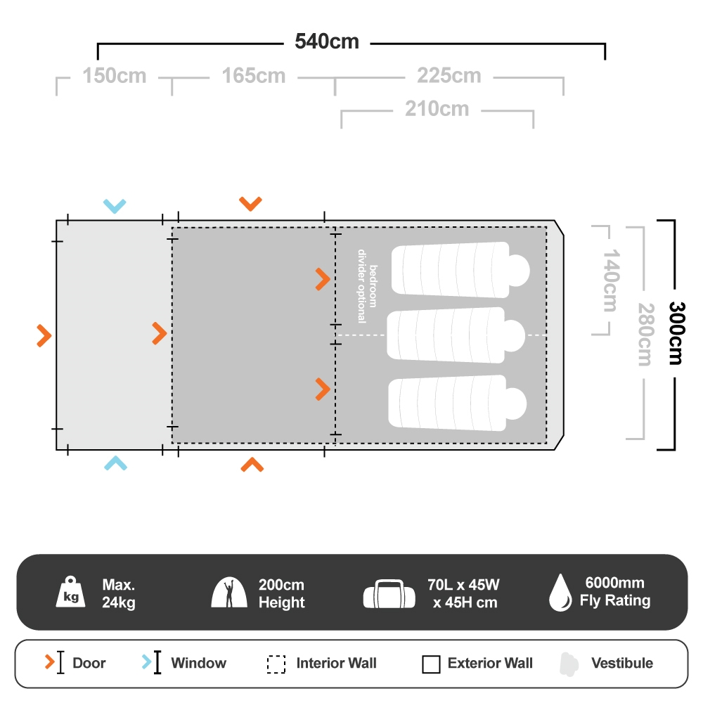 Evo TM V2 Air Tent - Floorplan