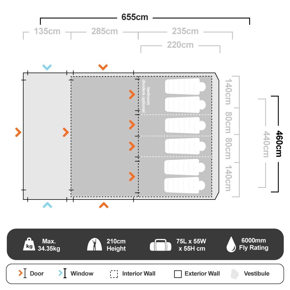 Evo TXL V2 Air Tent - Floorplan