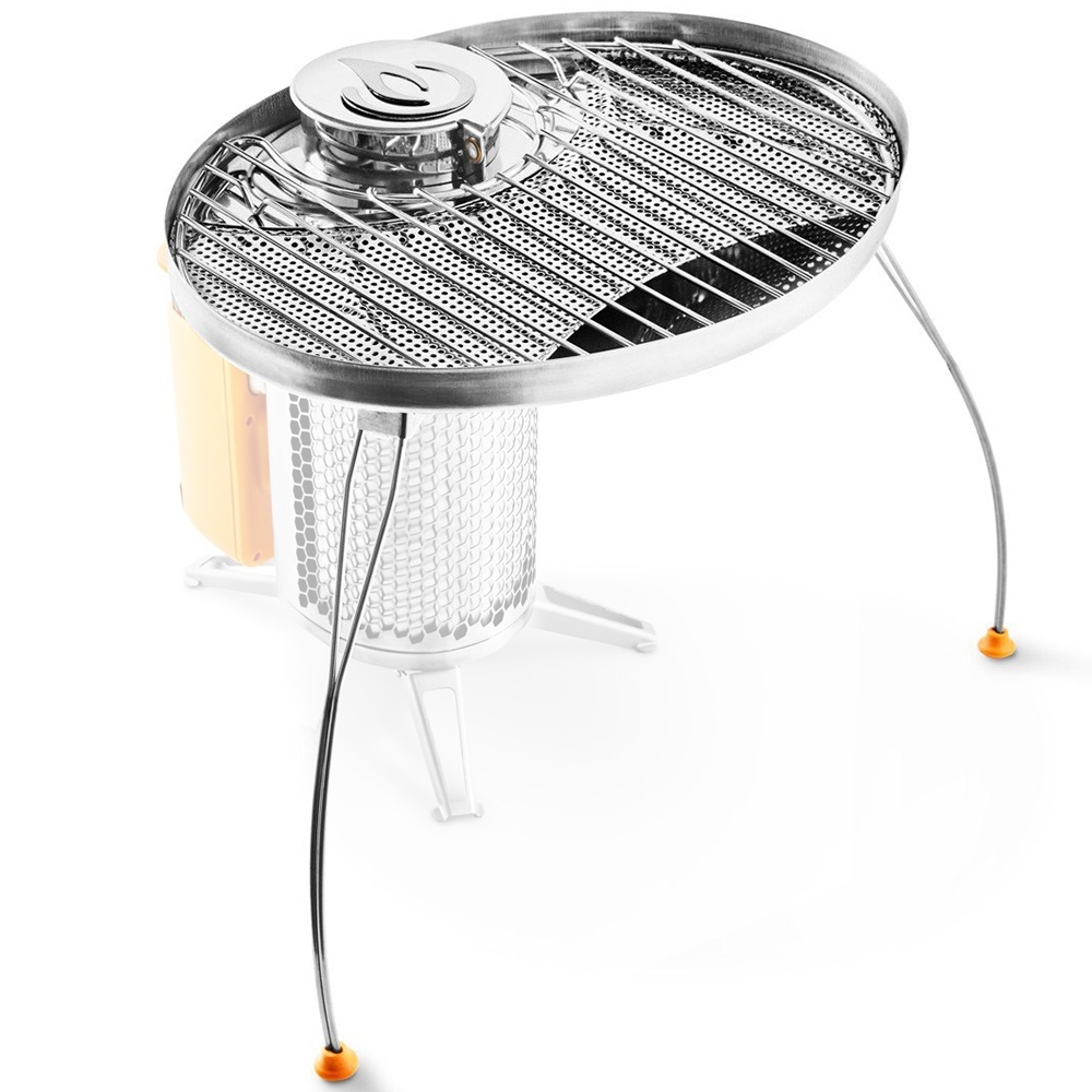 BioLite CampStove Portable Grill - Steel grill grate cooks up to 4 burgers