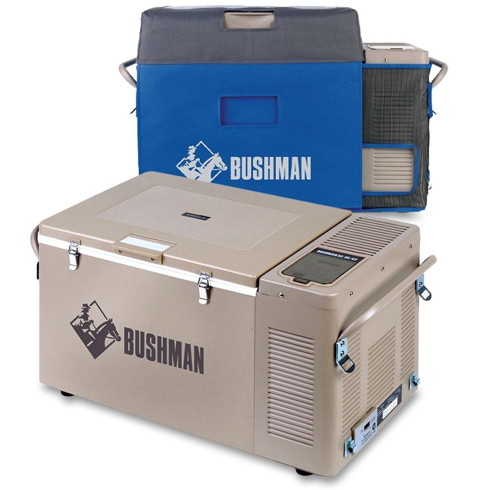 Bushman 35-52L Portable Fridge Freezer + Cover
