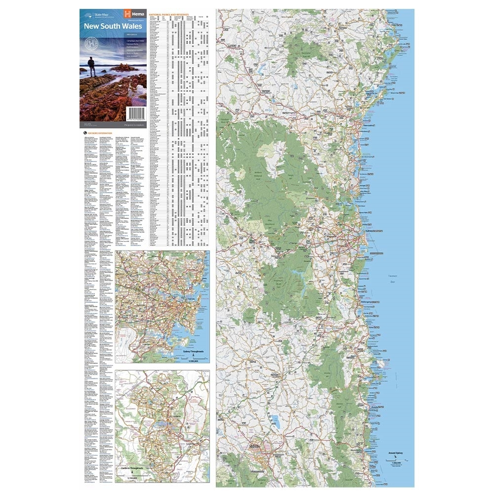 Hema New South Wales State Map - 14th Edition unfolded