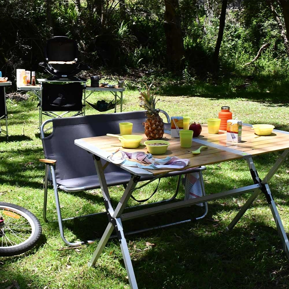Black Wolf Slatted Camping Table