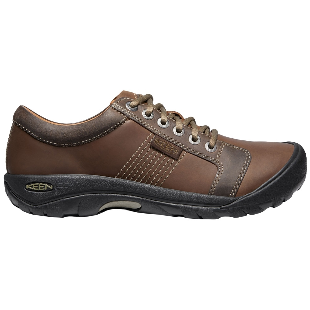 Keen Austin Men's Shoe - Modern lace-up with water-resistant leather and durable arch support