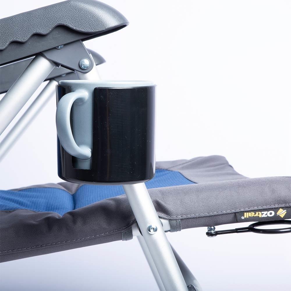 OZtrail Cascade 5 Position Recliner - Detachable drink holder