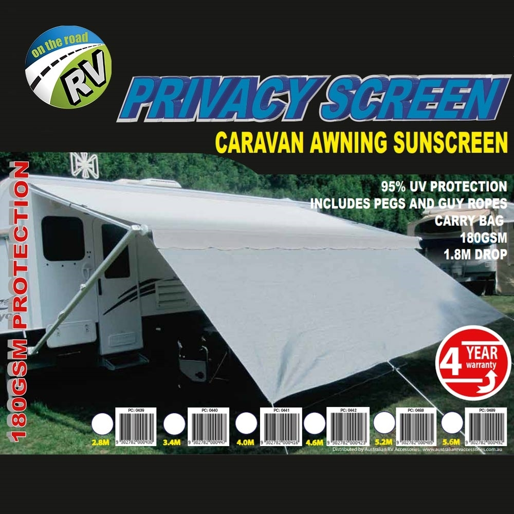 On The Road RV Privacy Screen Caravan Awning Sunscreen - Packaging