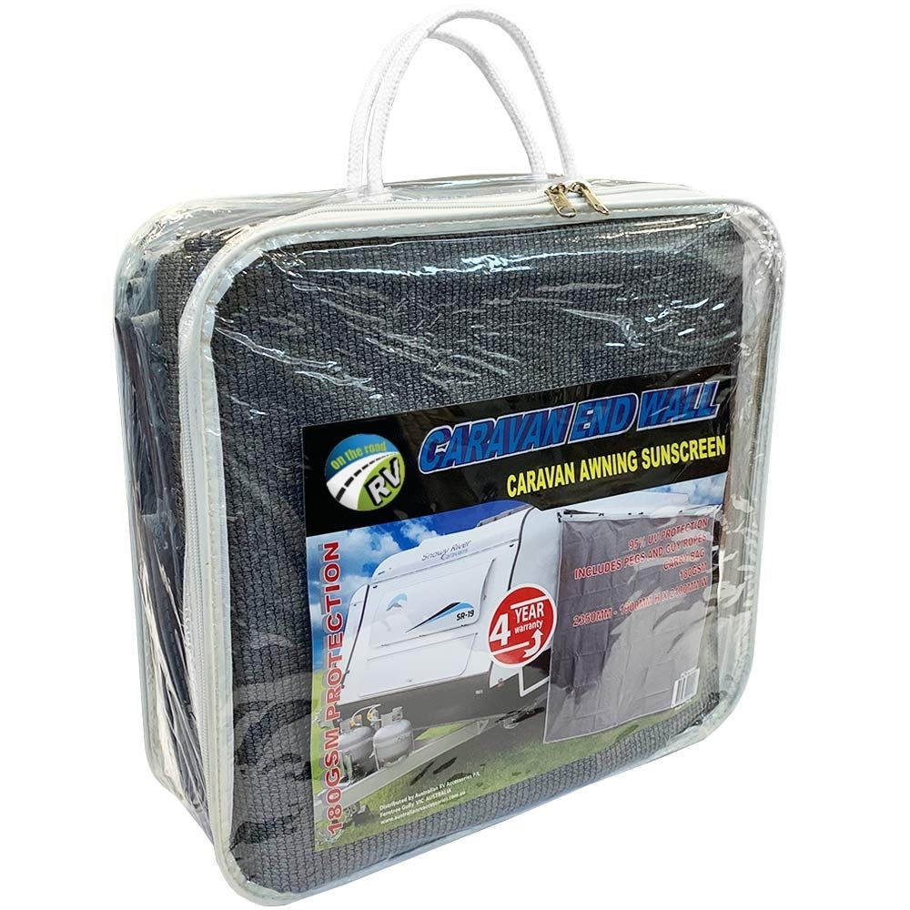 On The Road RV Pop Top End Wall Awning Sunscreen - Packaging