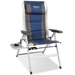 OZtrail Cascade 8 Position Recliner Chair with Side Table