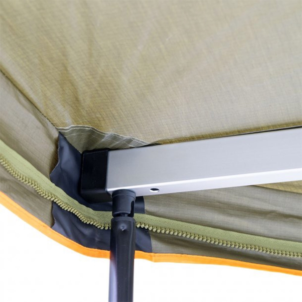 Darche Eclipse 180 Versatile Awning - Box tube alloy rafter system hinging from heavy-duty stainless steel and alloy swivel hinge system