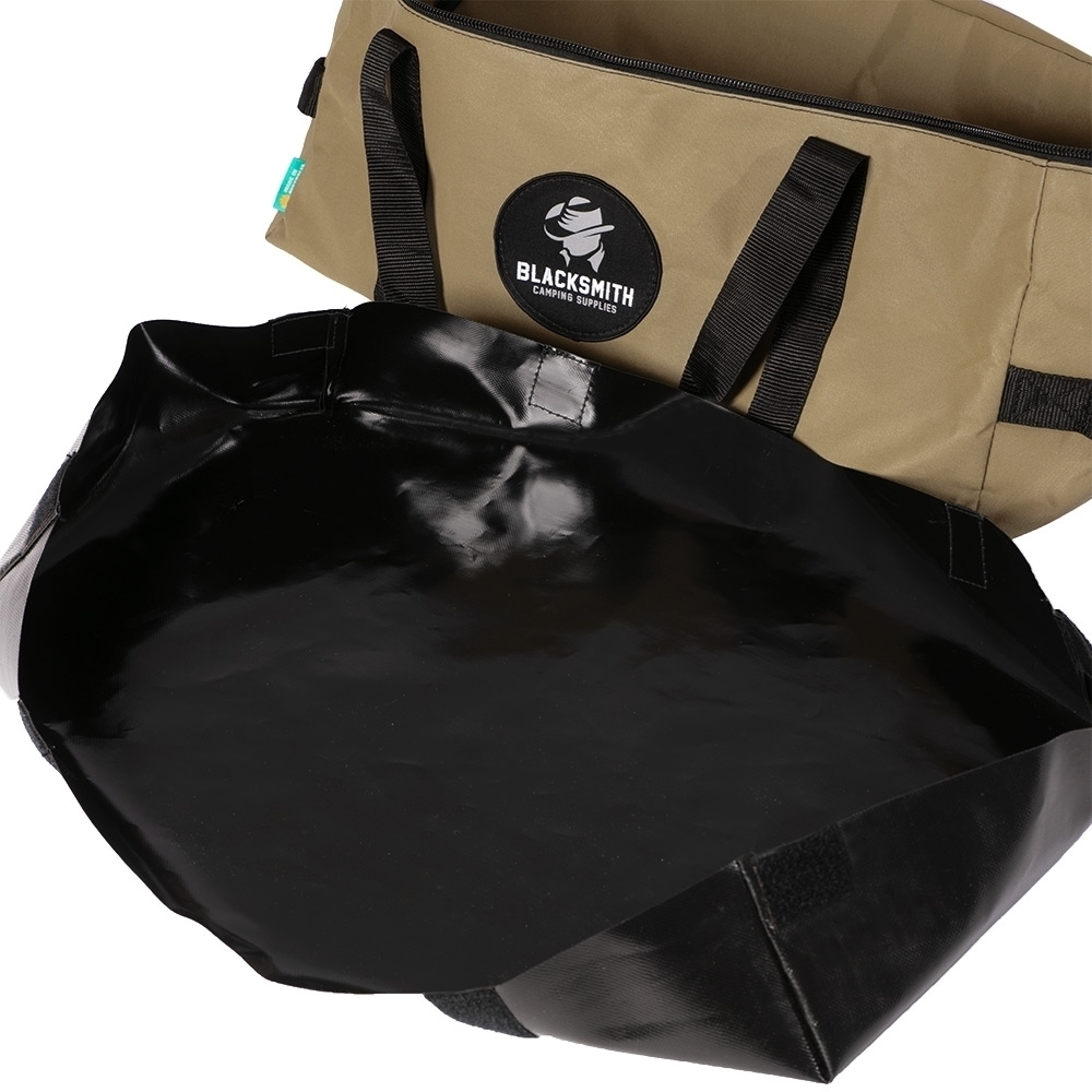 Blacksmith Camping Supplies Australian Made Voyager BBQ Bag - Removable Australian made 680gsm PVC ripstop tarpaulin insert with Velcro