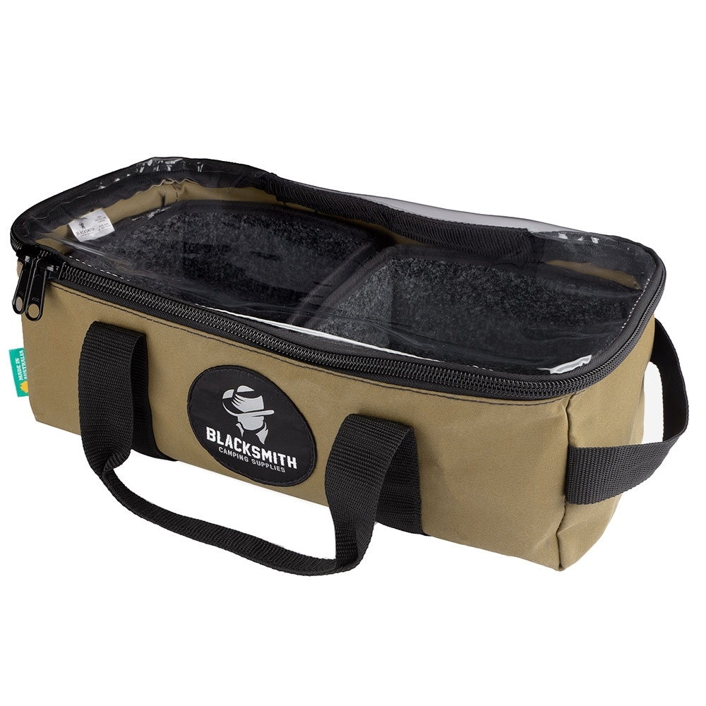 Blacksmith Camping Supplies Australian Made Canvas Clear Top Drawer Bag Small Front
