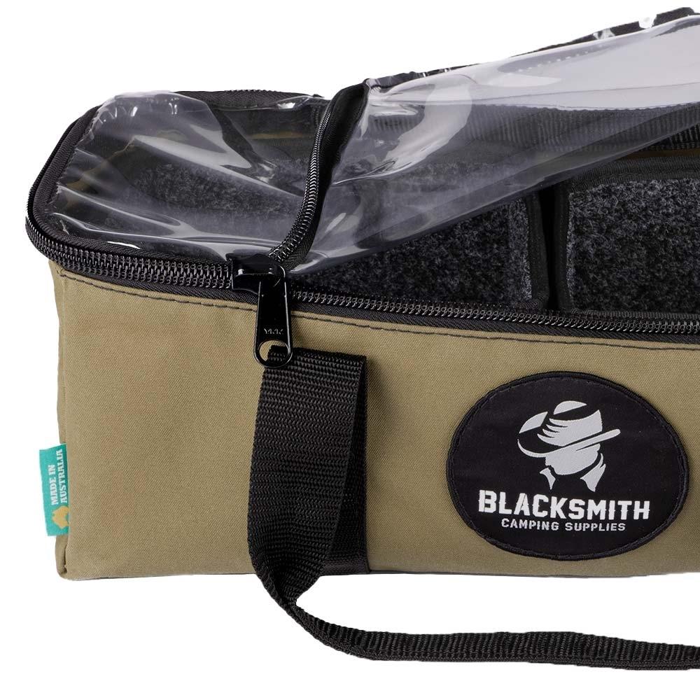 Blacksmith Camping Supplies Australian Made Canvas Clear Top Drawer Bag Small - YKK Zip
