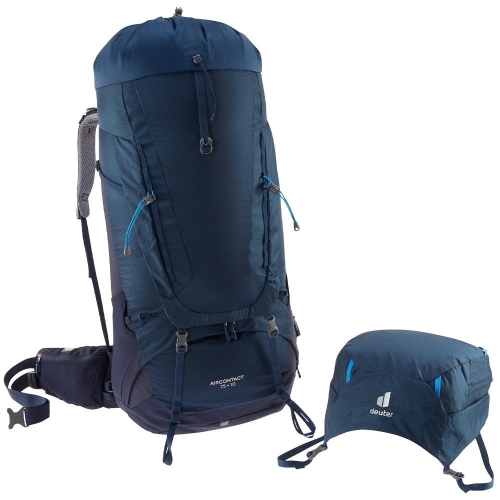 Deuter Aircontact 75+10 Rucksack - Removal backpack lid