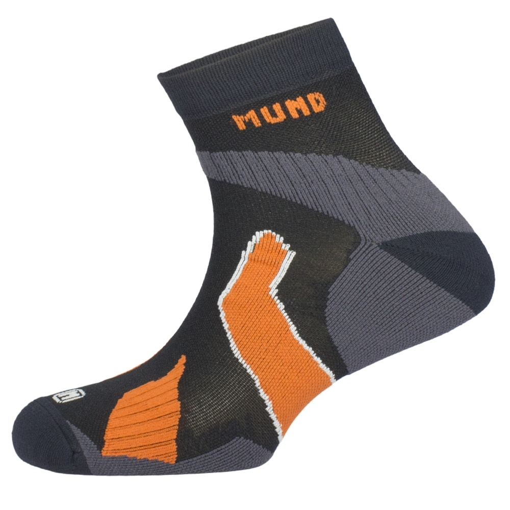 MUND Ultra Raid Running Trail Ankle Sock - Semi-compressive sock with designed weave which enables correct ankle allocation