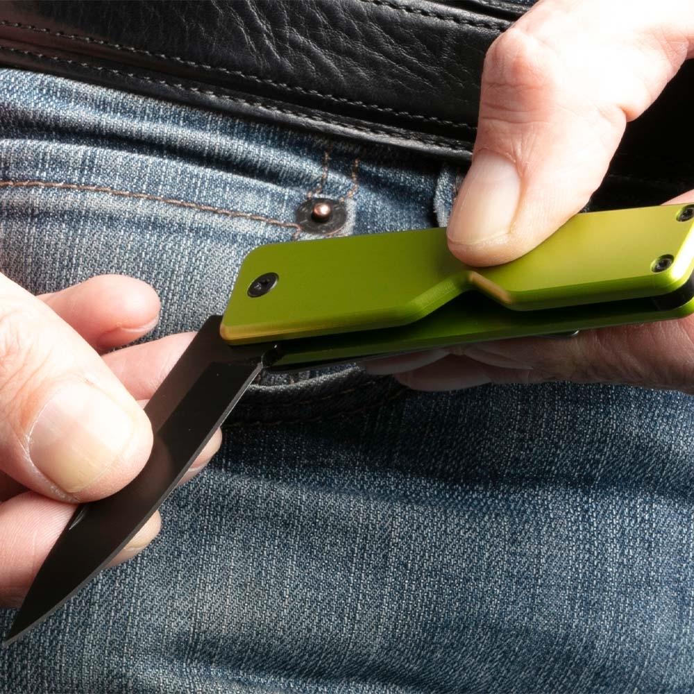 Atka Mint EDC Knife - 70mm long stainless steel 420HC folding blade