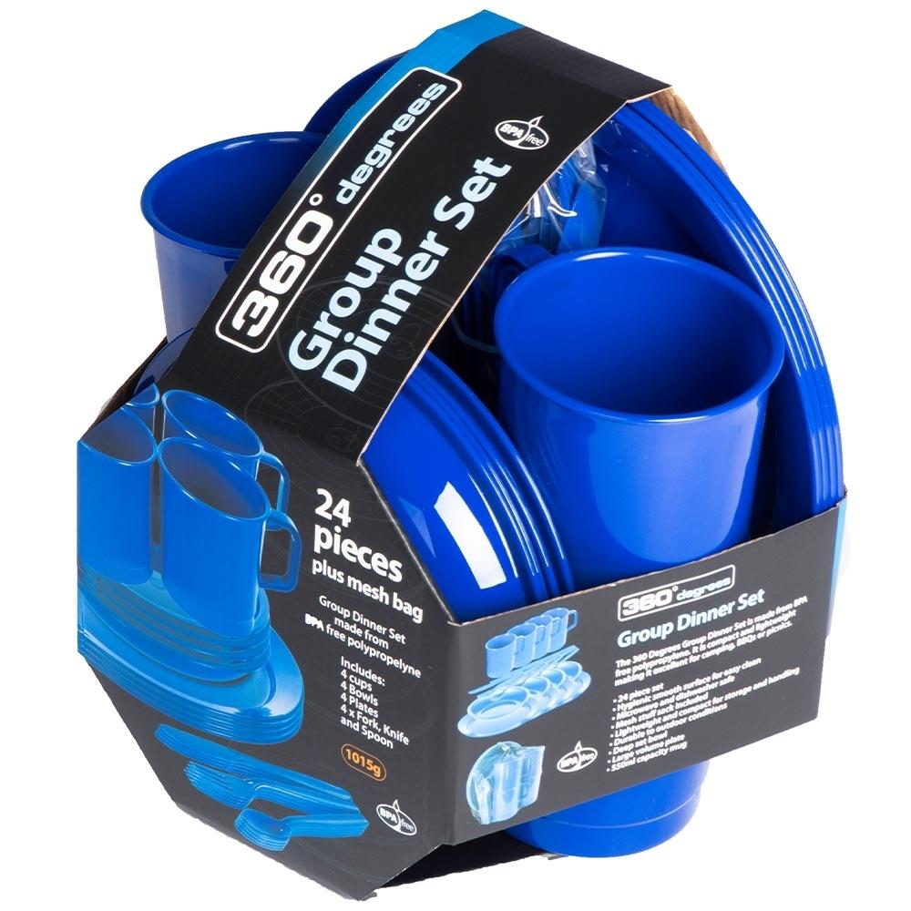 360 Degrees Group Dinner Set - BPA free polypropylene