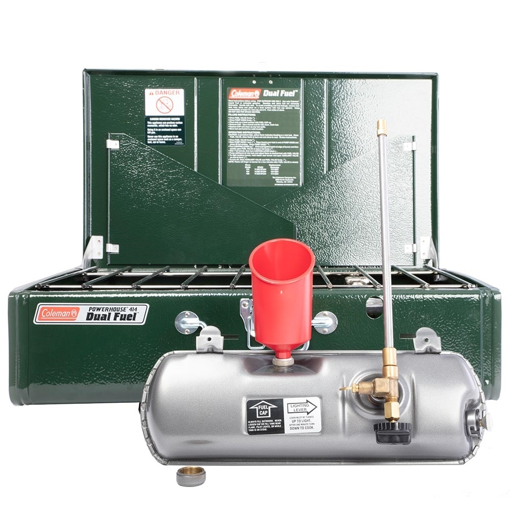 Coleman Guide Series Powerhouse Dual Fuel Stove - Operates on Coleman® Fuel, Shellite or unleaded petrol