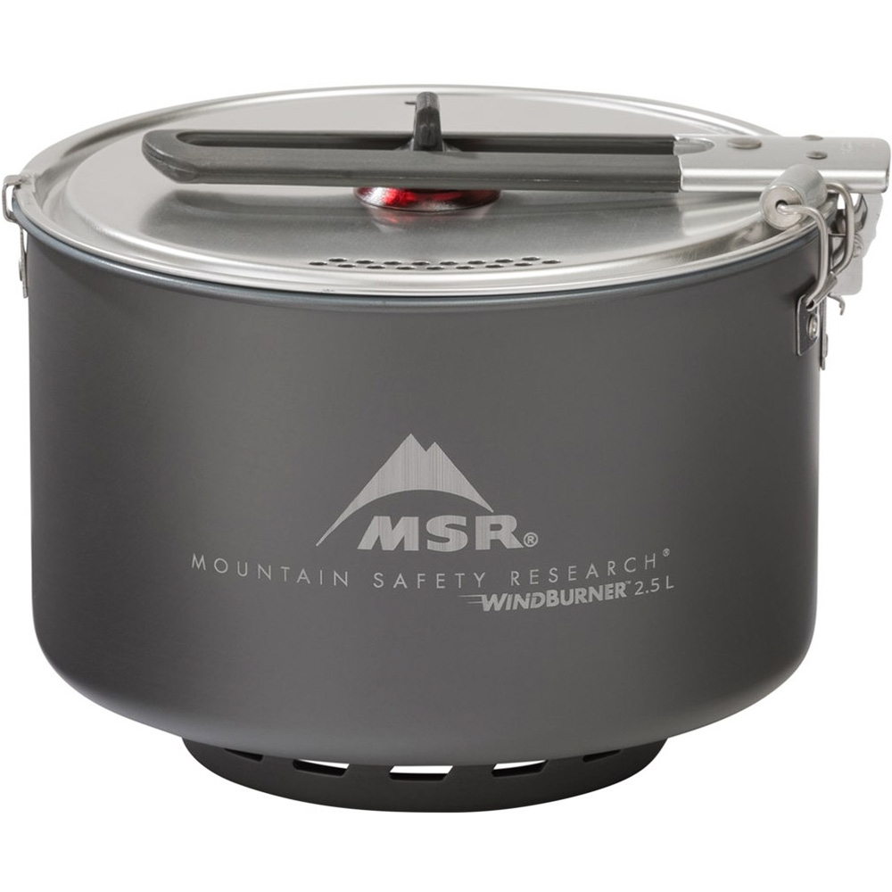 MSR WindBurner Group Stove System - 2.5 L sauce pot features an ultra-durable Fusion® ceramic nonstick surface