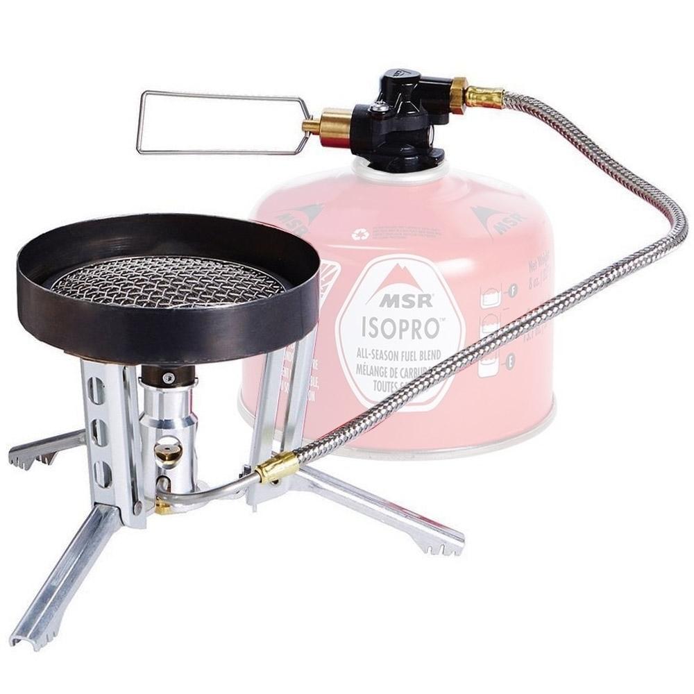 MSR WindBurner Duo Stove System - Radiant burner with boil-to-simmer control & pressure regulator for consistent performance