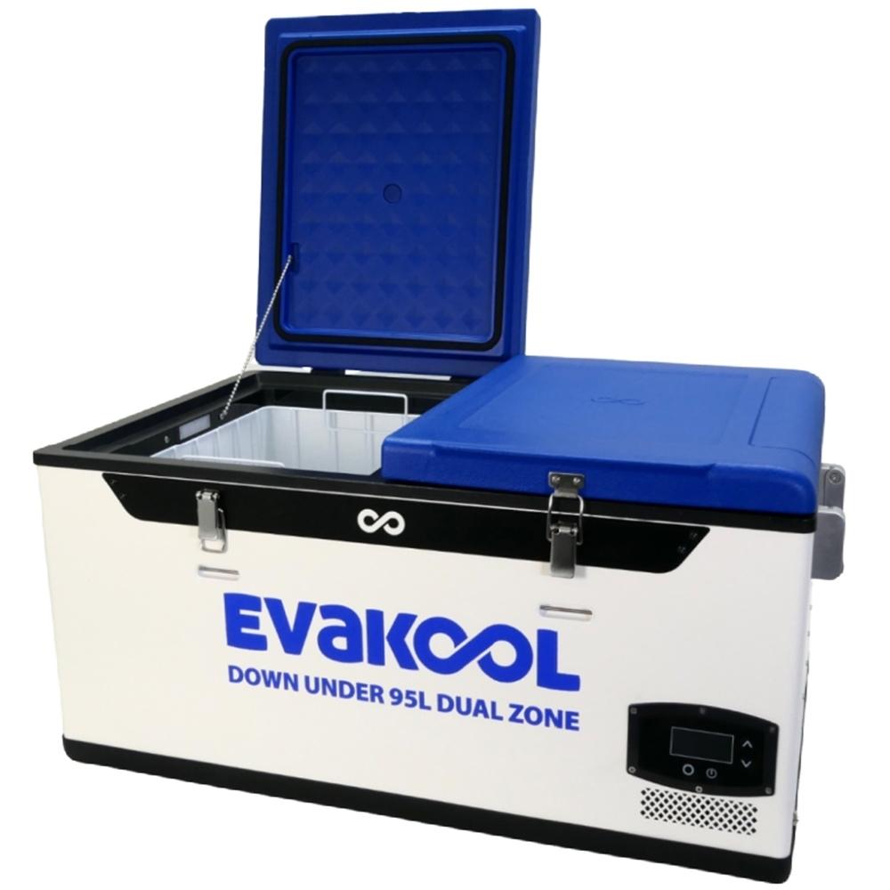 Evakool Down Under 95L Dual Zone Fridge Freezer -Switch off one side for a small fridge or freezer