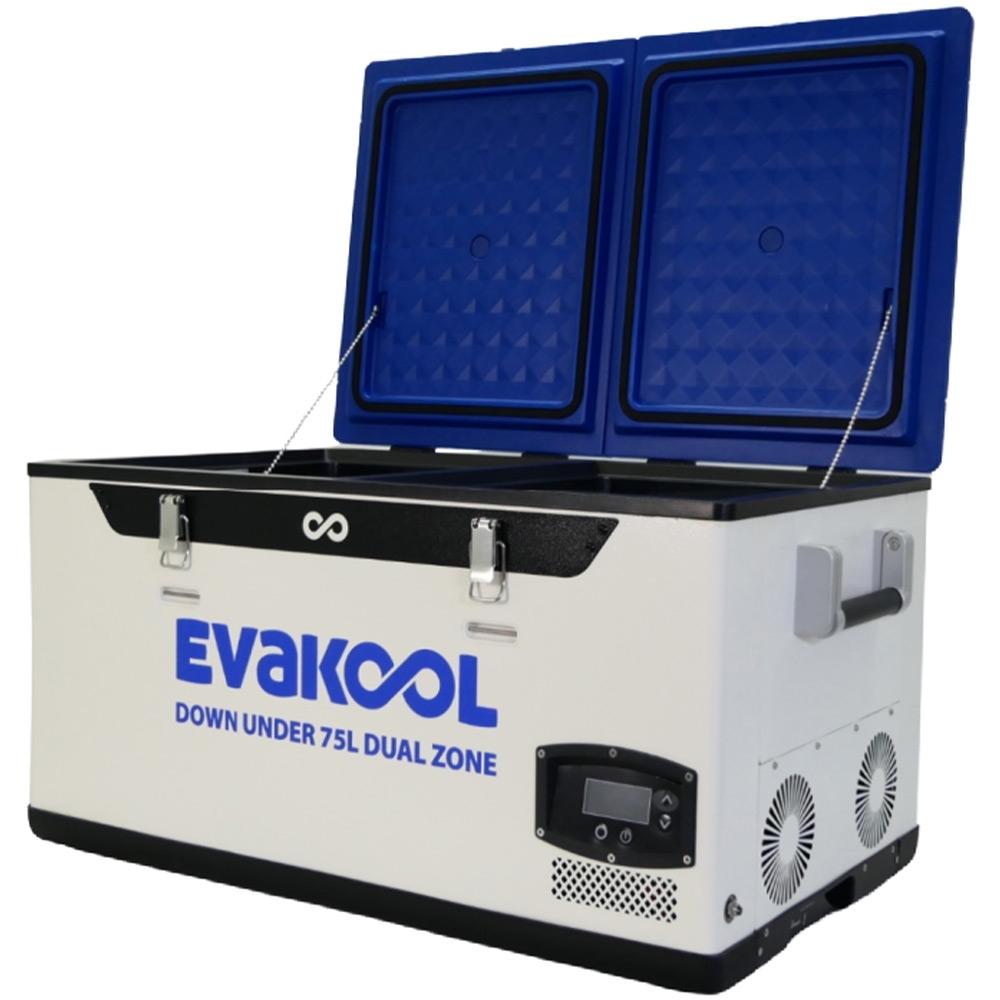 Evakool Down Under 75L Dual Zone Fridge Freezer - Tough, roto-moulded lids