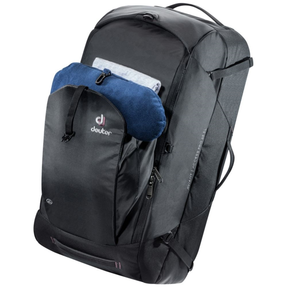 Deuter AViANT Access Pro 65 SL Black - Daypack with gear in front compartment