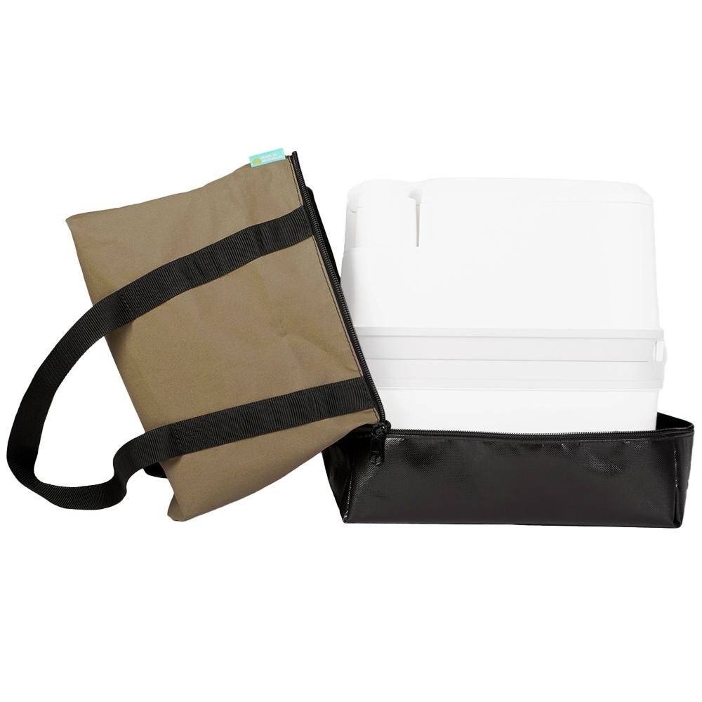 Blacksmith Camping Supplies Australian Made Porta Potti Portable Toilet Bag Open