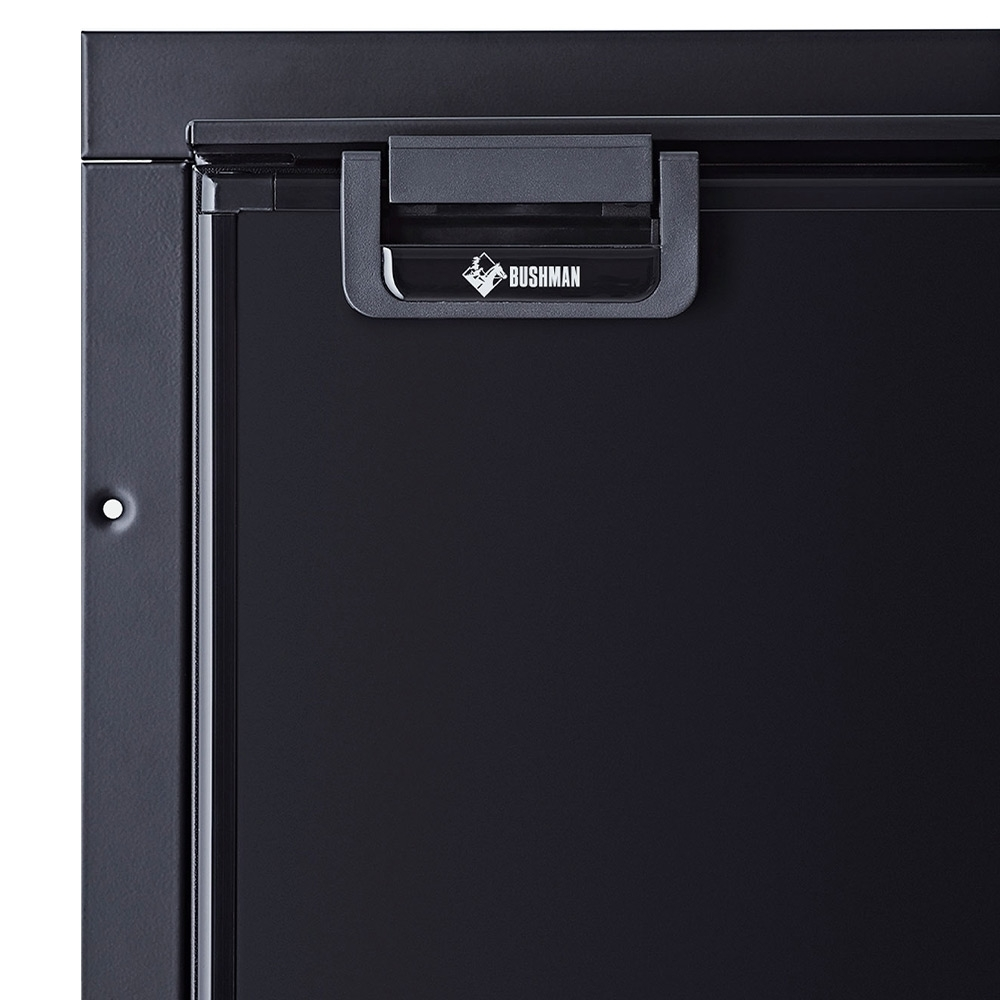 Bushman DC65-X 65L Upright Fridge - Install flush mounted to your cabinet work, or with the supplied mounting kit