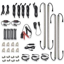 Outdoor Connection Power Strip Light Bar Kit - 4 Bar White/Amber - Compact & versatile 12V lighting kit