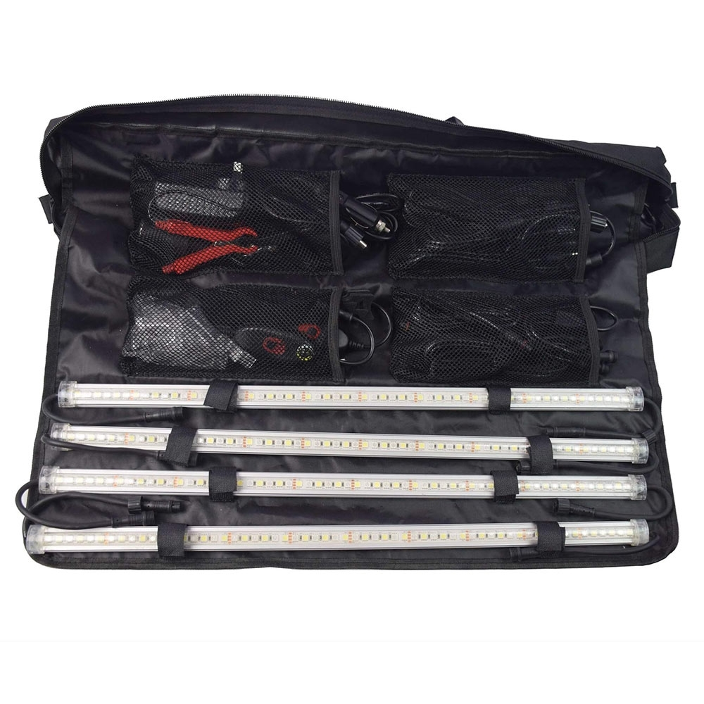 Outdoor Connection Power Strip Light Bar Kit - 4 Bar White/Amber - Soft carry bag packs everything away neatly inside