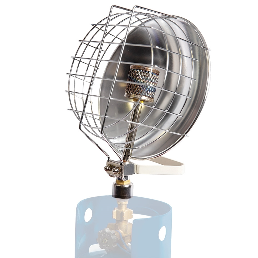 """Companion Radiant Gas Heater - Fits directly onto 3/8"""" BSP LH gas cylinders"""