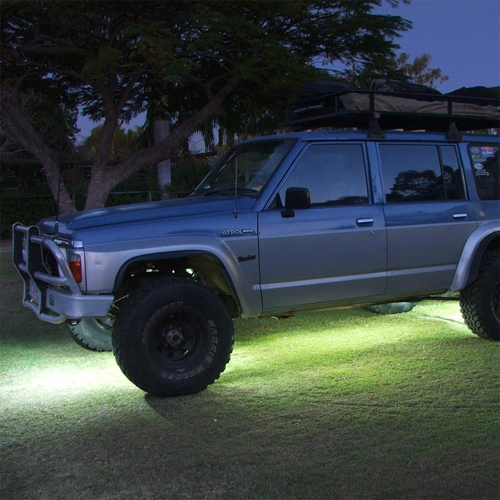 Hard Korr High-Powered Rock Lights - Bathe the underside of a vehicle in an even, clear white light