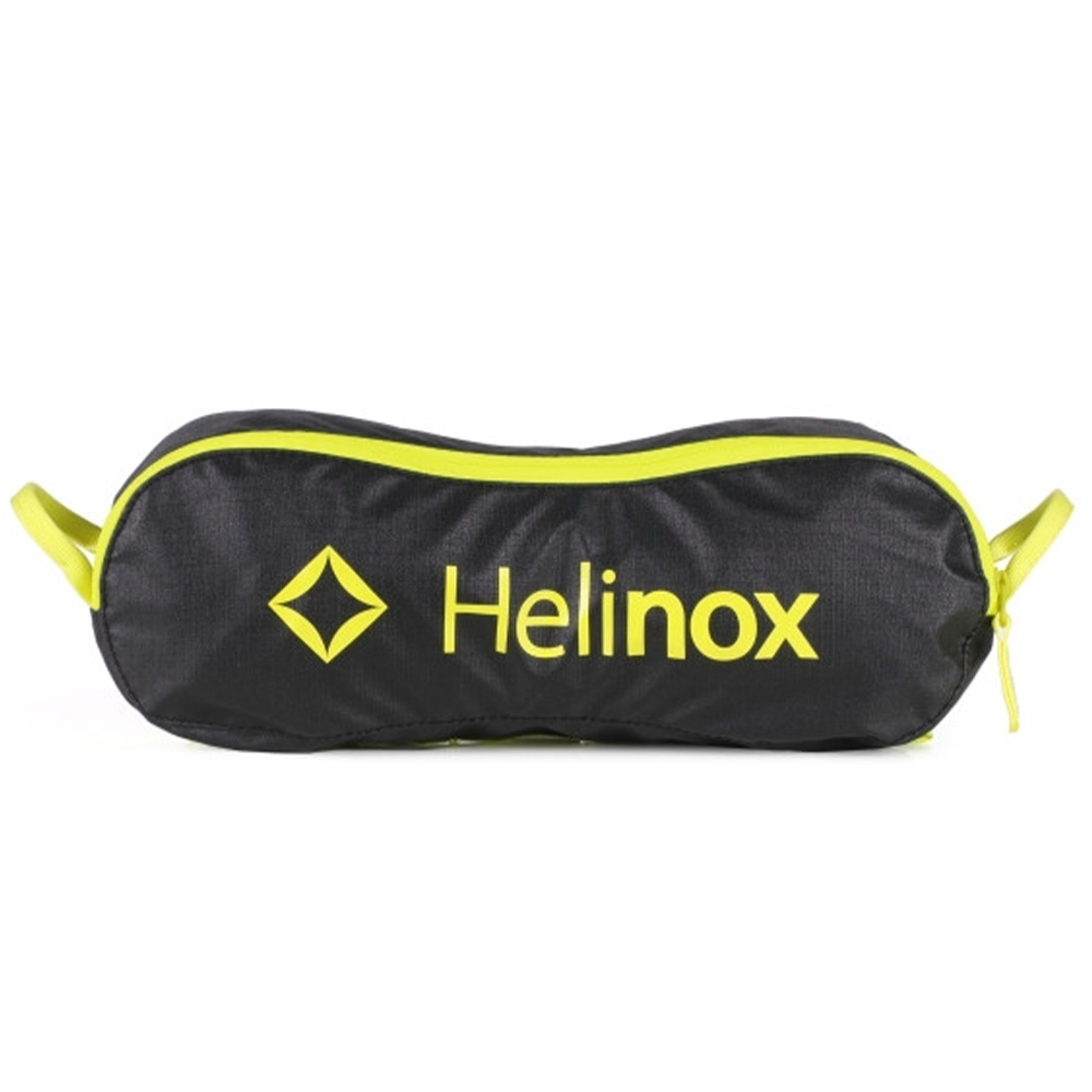 Helinox Chair One Camping & Hiking Seat - Fitted into its compact stuff sack - Black with Melon Frame