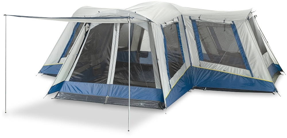 OZtrail Family 12 Dome Tent - Fully featured four room family dome tent